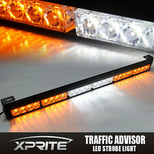 Xprite 24LED Emergency Warning Strobe Light Bar Traffic Advisor Lamp Amber White