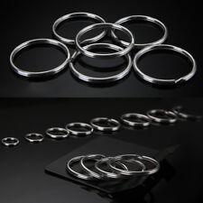 10x Silver Tone Key Rings Chains Split Jump Ring Hoop Metal Loop Accessory