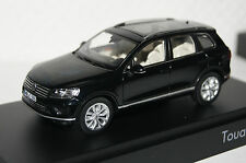 VW Touareg 2015 negro 1:43 Herpa/VW nuevo con embalaje original 7p1.099.300.a.c9x