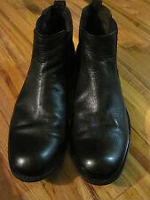 Mens Jon Varvatos Black Leather Chelsea Boots Size 11.5 M