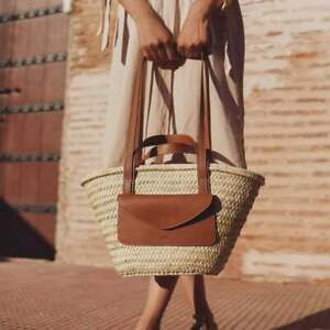 Straw Basket Bag, Morocco Straw Basket, Beach Basket Bag, Straw Basket Bag with