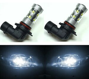 LED 50W 9005 HB3 White 5000K Two Bulbs Head Light High Beam Replace Lamp OE