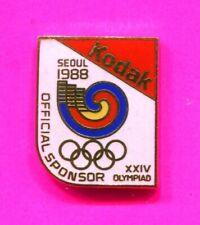 1988 SEOUL OLYMPIC PIN KODAK PIN WHITE BACKGROUND PIN OFFICIAL SPONSOR PIN