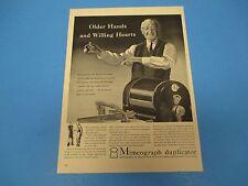 1942 Print Ad Mimeograph Duplicator A.B.Dick Company, Chicago  PA019