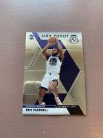 Eric Paschall 2019-20 Panini Mosaic NBA Debut Prizm Rookie RC #272 Warriors