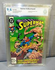 SUPERMAN: THE MAN OF STEEL #17 (Doomsday 1st app.) White CBCS 9.6 DC 1992 cgc