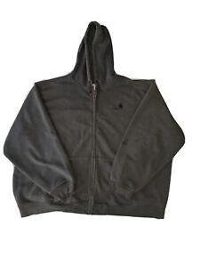 CARHARTT Forrest Dark Green Heavyweight Full Zip Sweatshirt Hoodie Jacket 4XL