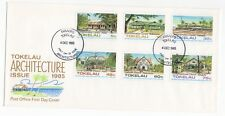 1985 TOKELAU ISLANDS First Day Cover ARCHITECTURE - PUBLIC BUILDINGS Issues