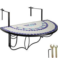 Tavolino da Balcone Mosaico ribalta Terrazza Tavolino Parete pieghevole blu-bian