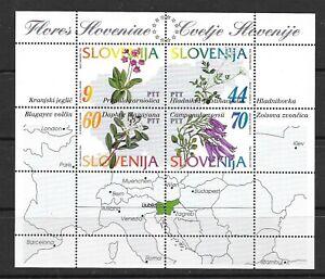 SLOVENIA Sc 196 NH ISSUE OF 1994 - SOUVENIR SHEET - FLOWERS