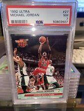 1992-93 FLEER ULTRA MICHAEL JORDAN #27 PSA 7 NM