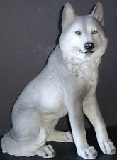 "INTENSITY    Medium Sitting Wolf   Statue  Figurine  H14"""