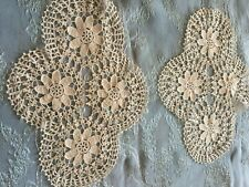Two Beautiful Vintage Handmade Doilies