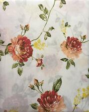 Conjunto De Ropa De Cama Individual Floral Marfil Rojo Crisantemo ajustada plana Funda De Almohada