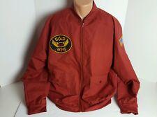 Vintage Haband Honda Gold Wing Mens Large Red Light Jacket American Flag Eagle