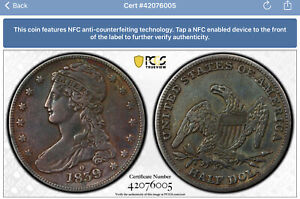 Rare 1839 O Capped Bust Half Dollar PCGS  XF Details GR1 RPM