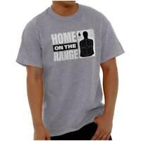 Funny Guns Rights Target Range 2nd Amendment Womens or Mens Crewneck T Shirt Tee