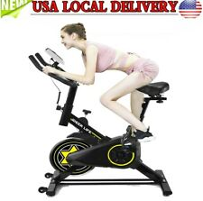 Exercise Bike Stationary Bicycle Indoor Cycling Cardio Fitness Workout Gym BLK