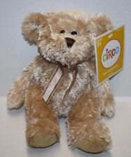 "Circo SOFT TOY TEDDY BEAR 9"" Gold Bow Beige Tan Plush Stuffed Sits 6"" Target"