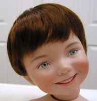 KELLY DOLL WIG Light Brown size 8-9 short straight hair for all types of dolls