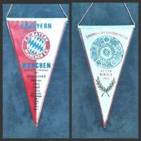Orig. Wimpel FC Bayern München Erfolge bis 1972 Fussball Bundesliga FCB DFB