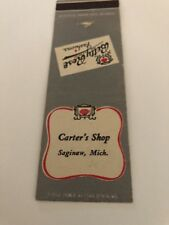 Vintage Matchbook Cover Carter's Shop Saginaw Michigan
