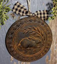 Folk Art Rabbit Beeswax Blackened Ornament Cinnamon Scented Primitive Ornie