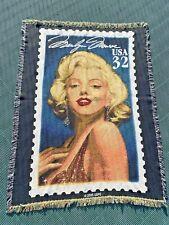 Vintage 2000 USPS Marilyn Monroe Throw Blanket Afghan Tapestry Blonde Bombshell
