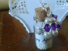 Message in a Bottle Happy Anniversary can choose bead colour