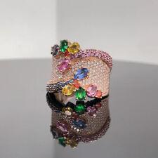 EFFY 14k Rose Gold Diamond & Multi gemstone Ring New $4995 / Retail