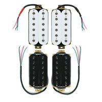 Electric Guitar Humbucker Pickup Neck/Bridge Pickup Hex Poles White/Black Color