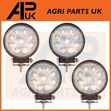 4 x 27W led lampe de travail 12V flood beam 24V rond remorque offroad 4X4 suv 4WD