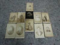 Lot of 10 CDV Photos-Many With Visible Stands + Tintype of Baby