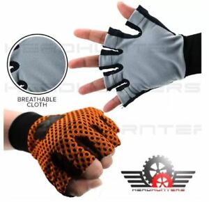 Gloves Anti-Skid Cloth Washable for Motorcycle / Bicycle - ORANGE