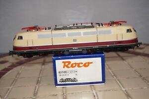 RF24] H0 Dc Roco 63749 - Electric Locomotive Br 103 - DB - Epoch IV - Dss Boxed
