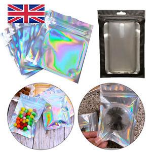 50 Clear Golden Zip Seal Mylar Bags Aluminum Foil Resealable Valve Zipper Pouch