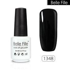 BELLE FILLE 8ml Nail Art Gel polish Soak-off UV Led Varnish Manicure DIY #1348