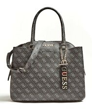 Guess Maci Large Girlfriend Satchel Coal, Women's Handbag Strap Bag
