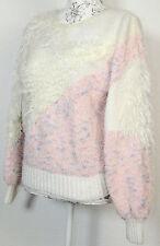 Mehrfarbige Damen-Pullover mit Rundhals-Ausschnitt aus Baumwollmischung