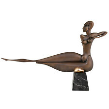 Paul Wunderlich Modern bronze sculpture nude signed & numbered marble base
