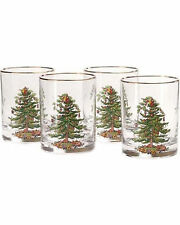 Spode Christmas Tree Double Old Fashioneds Set of 4 Glasses