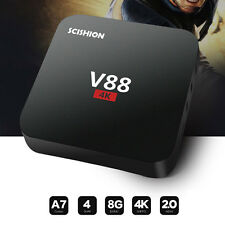 V88 Smart 4K Android TV Box Quad-Core WiFi Media Player Hotspot