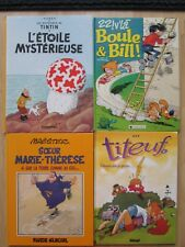 FRENCH COMICS HC LOT 4~Titeuf~Boule & Bill~Maester~Tintin~L'ETOILE MYSTERIEUSE~