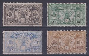 NEW HEBRIDES  1925: fine used oddments SG F42/3, 48/9 c.v. £36 · 2 images