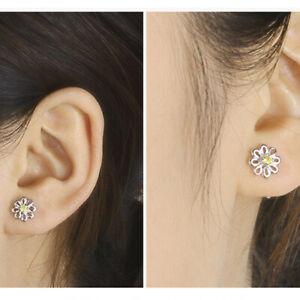 Wedding Stud Earrings Floral Shape Dainty Jewelry Party Crystal Rhinestones C