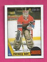 1987-88 OPC # 163 CANADIENS PATRICK ROY 2ND YEAR EX-MT CARD (INV# D0824)