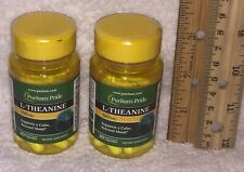 TWO, L-Theanine, from Puritan's Pride >>> 60 capsules (total). 100 mg each