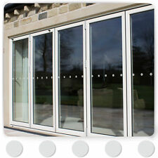 Frosted / Etched Glass Effect Safety Window Manifestations Stickers Circles Dots