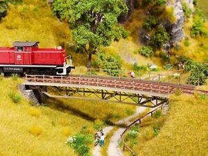 Noch H0 67026 - Bridge Deck, Bent, Radius (R2) 437 MM New