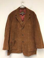 St. John's Bay Men`s Jacket Coat Brown Cordory Cotton Button Down size XL